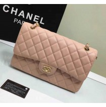 Chanel Jumbo Classic Flap Bag in Pink Caviar Leather with golden hardware