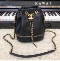 Chanel Drawstring Bag CS0373-black