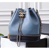Chanel Drawstring Bag CS0373-blue