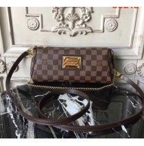 Louis Vuitton Damier Ebene Canvas Eva Clutch N55213