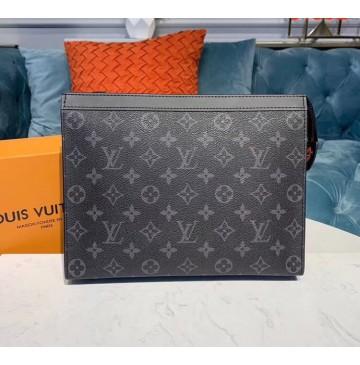 Louis Vuitton Monogram Eclipse Pochette Voyage MM M61692