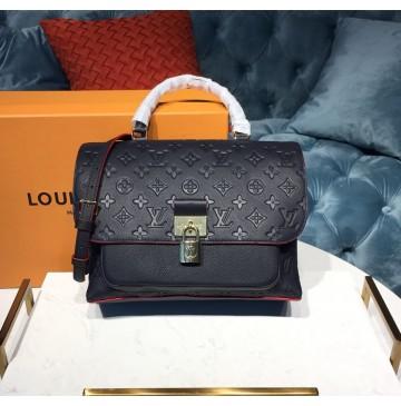 Louis Vuitton Monogram Empreinte Leather Marignan Marine Rouge M44545