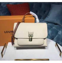 Louis Vuitton Monogram Empreinte Leather Marignan Creme Caramel M44549