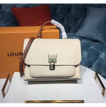 Louis Vuitton Monogram Empreinte Leather Marignan Creme Caramel M44549
