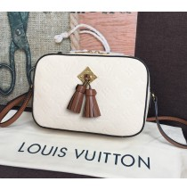 Louis Vuitton Monogram Empreinte Leather Saintonge Creme Caramel M44597