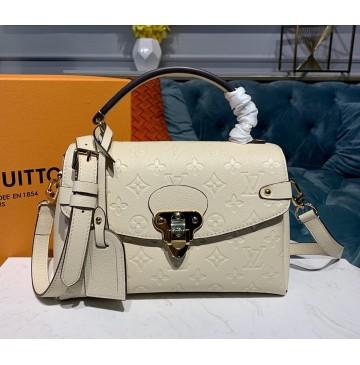 Louis Vuitton Monogram Empreinte Leather Georges BB Creme M53943