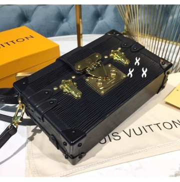 Louis Vuitton Epi Leather Petite Malle Black M54650