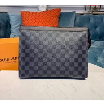 Louis Vuitton Damier Graphite Pochette Voyage MM N41696