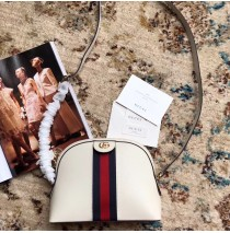 Gucci Ophidia Leather Small Shoulder Bag GU499621-white