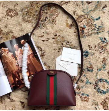 Gucci Ophidia Leather Small Shoulder Bag GU499621-wine-red