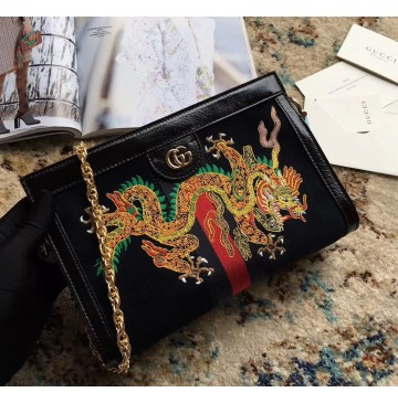 Gucci Ophidia GG Small Shoulder Bag GU503877DR-black