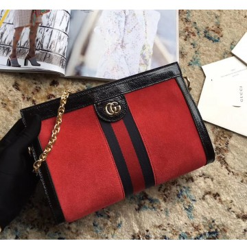 Gucci Ophidia GG Small Shoulder Bag GU503877LC-red