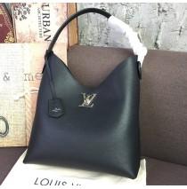Louis Vuitton Lockme Hobo Black M52776
