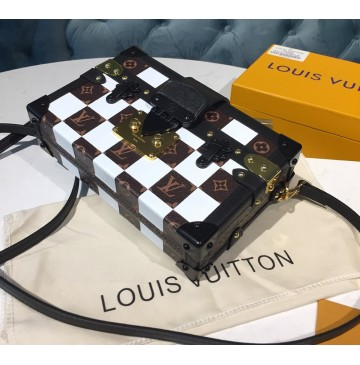 Louis Vuitton Damier Tressage Petite Malle Cream M53201