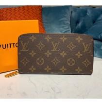 Louis Vuitton Monogram Canvas Zippy Wallet M60017