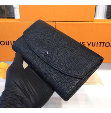 Louis Vuitton Mahina Leather Iris Wallet M60145-black