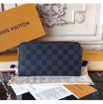Louis Vuitton Damier Graphite Zippy Wallet N60019-black