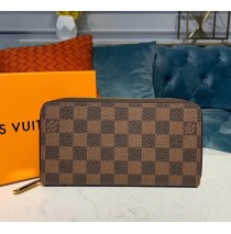 Louis Vuitton Damier Ebene Zippy Wallet N60019-brown
