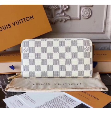 Louis Vuitton Damier Azur Zippy Wallet N60019-white