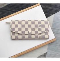 Louis Vuitton Damier Azur Emilie Wallet Beige N63546