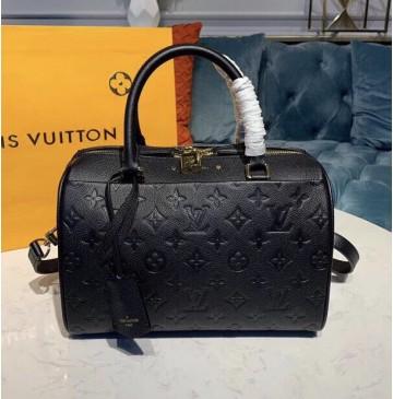 Louis Vuitton Monogram Empreinte Leather Speedy Bandouliere 25 Noir M42401
