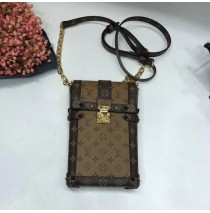 Louis Vuitton Monogram Reverse Canvas Vertical Trunk Pochette M67873