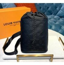 Louis Vuitton Monogram Shadow Black Chalk Sling Bag M44633