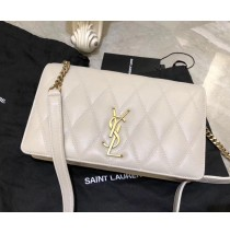 Saint Laurent ANGIE chain bag in quilted lambskin YSL0133-white