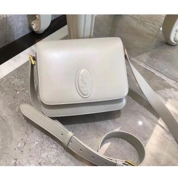 Saint Laurent LE 61 framed small saddle bag in smooth leather YSL1123-beige