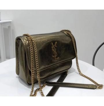 Saint Laurent Baby Niki Chain Bag YSL6187-bronze