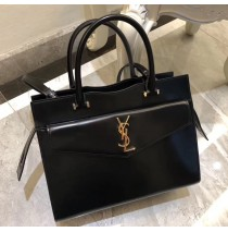Saint Laurent UPTOWN Medium tote in shiny smooth leather YSL6492-black