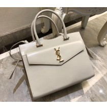 Saint Laurent UPTOWN Medium tote in shiny smooth leather YSL6492-white