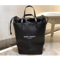 Saint Laurent TEDDY shopping bag in linen canvas YSL8805-black