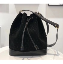 Saint Laurent MONOGRAM ALL OVER bucket bag in suede YSL8811-black
