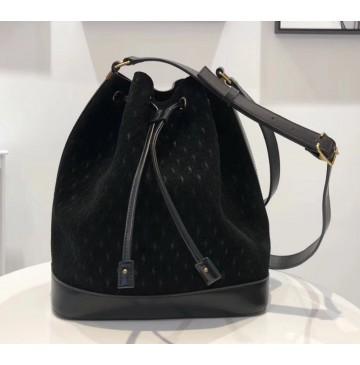 Saint Laurent MONOGRAM ALL OVER bucket bag in suede YSL8811-black
