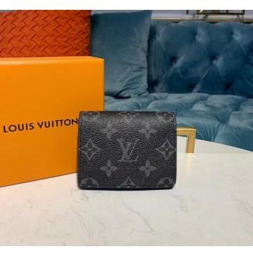 Louis Vuitton Monogram Eclipse Enveloppe Carte de visite M63801-black