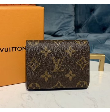 Louis Vuitton Monogram Canvas Enveloppe Carte de visite M63801-brown