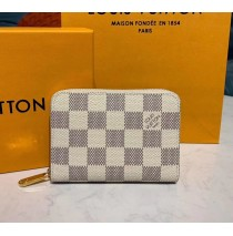 Louis Vuitton Damier Azur Zippy Coin Purse N60229-beige