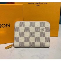 Louis Vuitton Damier Azur Zippy Coin Purse N60229-pink