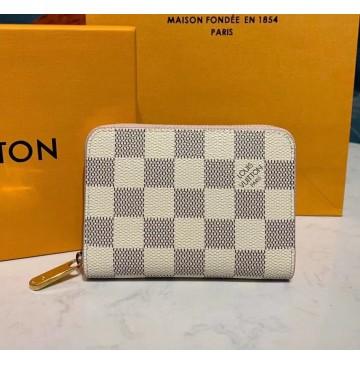 Louis Vuitton Damier Azur Zippy Coin Purse N60229-pink