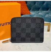 Louis Vuitton Damier Ebene Zippy Coin Purse N63070-black
