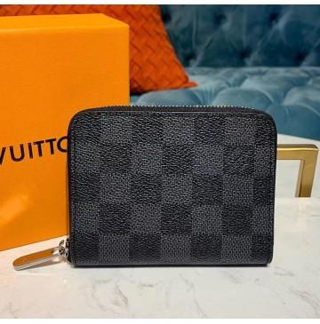 Louis Vuitton Damier Ebene Zippy Coin Purse N63070-black
