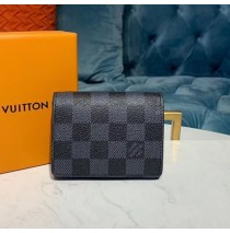 Louis Vuitton Damier Graphite Enveloppe Carte de visite N63338-black