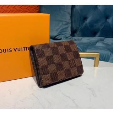Louis Vuitton Damier Ebene Enveloppe Carte de visite N63338-brown