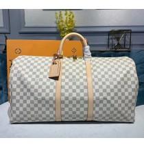 Louis Vuitton Damier Azur Keepall Bandouliere 55 N41429