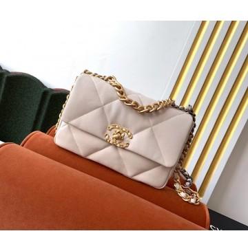 Chanel 19 Small Flap Bag C1160-beige