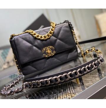 Chanel 19 Small Flap Bag C1160-black