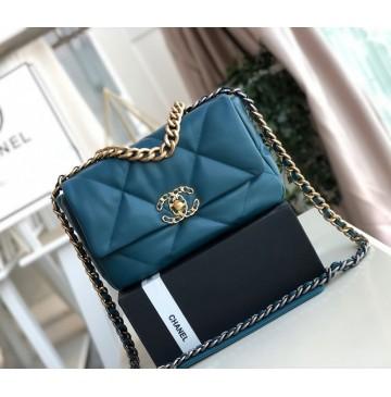 Chanel 19 Small Flap Bag C1160-blue