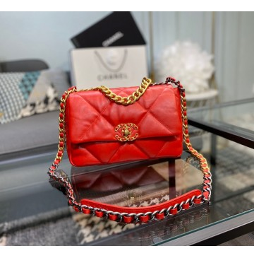 Chanel 19 Small Flap Bag C1160-red