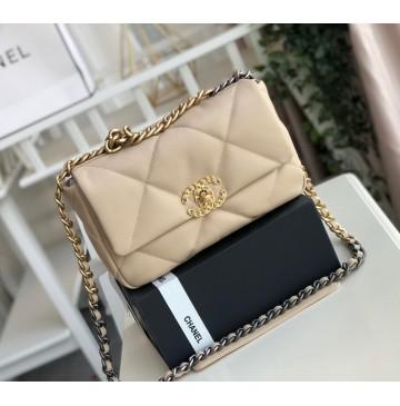 Chanel 19 Small Flap Bag C1160-tan